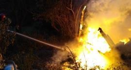 Kolejny pożar na ogródkach działkowych...
