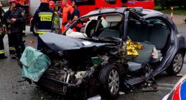 Wypadek przy Grenadierów. Straż publikuje zdjęcia