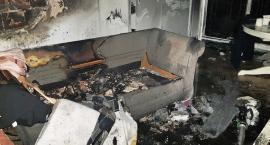 Pożar mieszkania przy ul. Grochowskiej. Zdjęcia straży