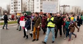 Protest po wypadku na ul. Umińskiego