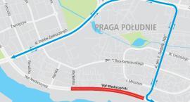 Utrudnienia na Wale Miedzeszyńskim - zamknięte obie jezdnie ulicy