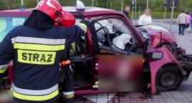 Straż pożarna publikuje zdjęcia z kolizji przy Wale Miedzeszyńskim