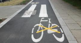 Przekreślona droga rowerowa wzdłuż ul. Łukowskiej