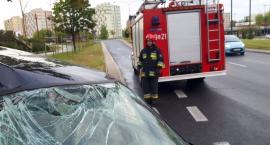 Samochód wypadł z jezdni na Ostrobramskiej [ZDJĘCIA]