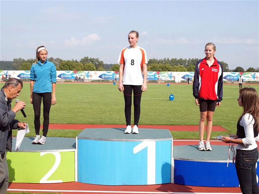 lekkoatletyka, Złoty brązowy medale lekkoatletek - zdjęcie, fotografia