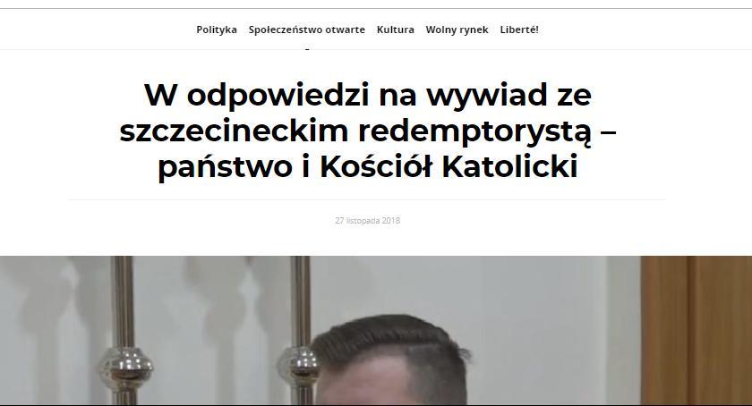 , Kościół polityka Krzysztof Serafiński racje krytykując księdza - zdjęcie, fotografia