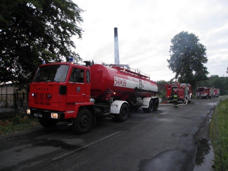 Aktualności, Strażacki tydzień Gorzelnia ogniu fałszywy alarm kolacja gazie - zdjęcie, fotografia