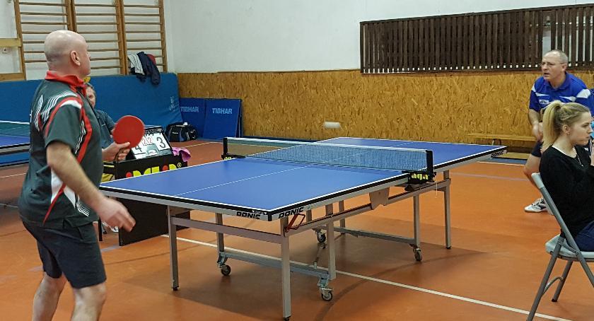 tenis stołowy, Szczecinka Kamil Kiljanek Antoni Biedziuk ponownie najlepsi - zdjęcie, fotografia