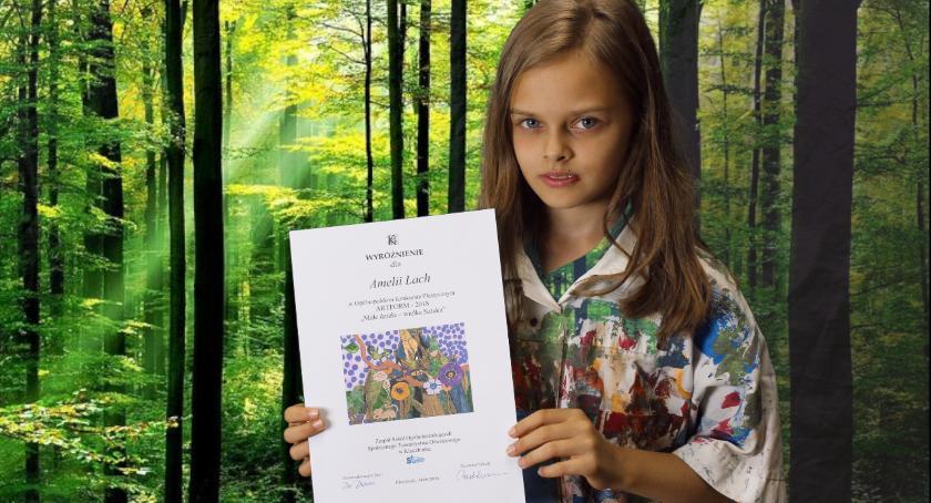Dzieci i młodzież, Sukces Amelii Ogólnopolskim Konkursie Plastycznym - zdjęcie, fotografia