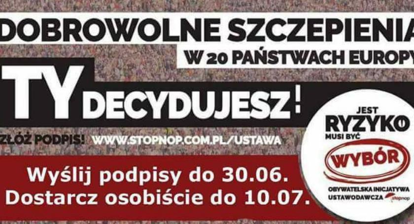 Chcą zmienić prawo dotyczące szczepień. Podpisy będą zbierane także w Szczecinku