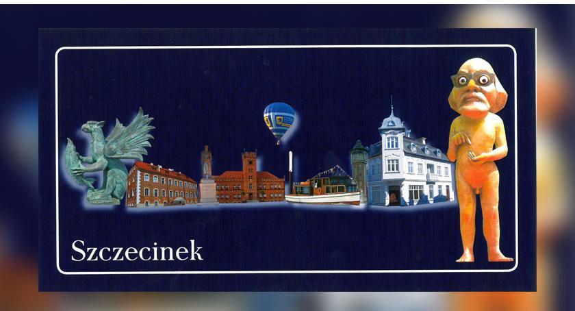 Kartka pocztowa ze Szczecinka. Zamiast jeziora jest Włapko