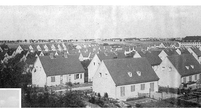 Pejzaż Neustettin`a z dachu Provinz Krüppelheim