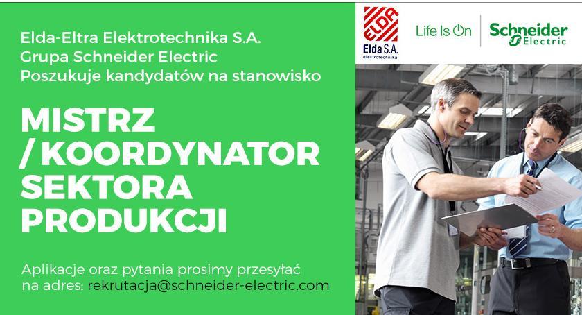 Praca, Schneider Electric zatrudni stanowisko Mistrz/Koordynator Sektora Produkcji - zdjęcie, fotografia