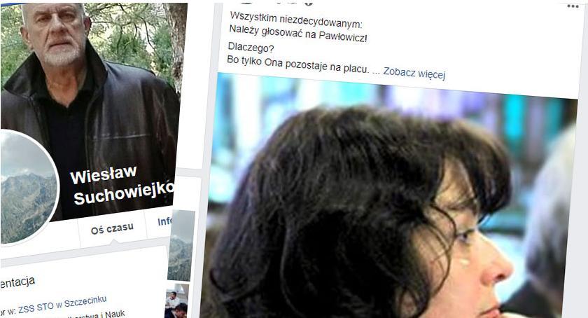 Wiesław Suchowiejko poparł kandydaturę Joanny Pawłowicz. I solidnie za to oberwał.