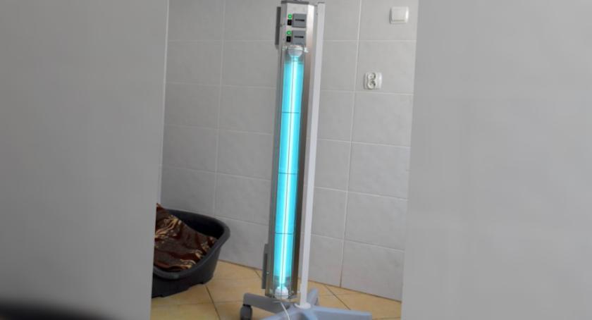 Nowa lampa antybakteryjna już trafiła do schroniska dla zwierząt w Szczecinku. Zbiórka nadal trwa