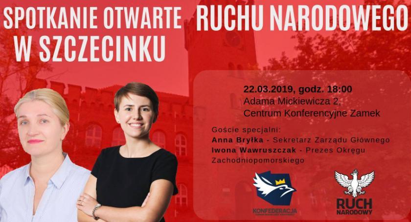 Imprezy, Wybory europarlamentu Narodowy zaprezentuje swój program Szczecinku - zdjęcie, fotografia
