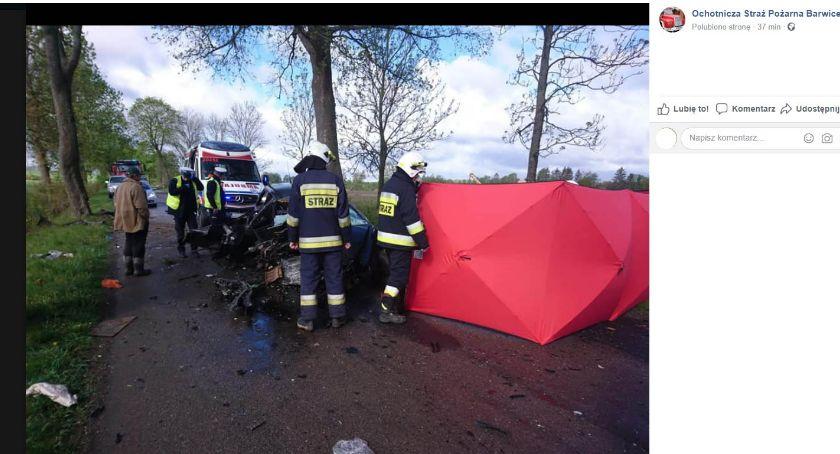 Tragiczny wypadek pod Starym Chwalimiem. Zginął kierowca