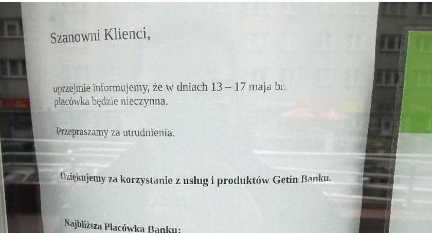 Placówka Getin Banku w Szczecinku nieczynna. Wcześniej była w niej policja