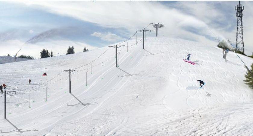 Brak śniegu i cena nie zatrzymają wizji. Wyciąg narciarski w Szczecinku to