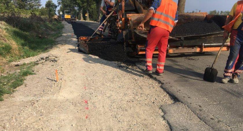 Sepolno: Trwają prace związane z przebudową odcinka drogi
