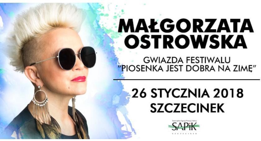 Imprezy Sapik, Małgorzata Ostrowska zaśpiewa Szczecinku! - zdjęcie, fotografia