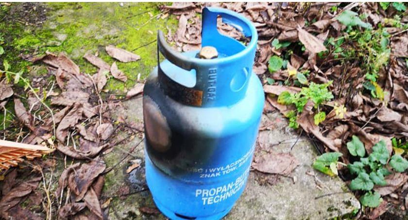 Pożar butli z gazem, zabójczy czad i wypadki. Tydzień pracy strażaków w Szczecinku