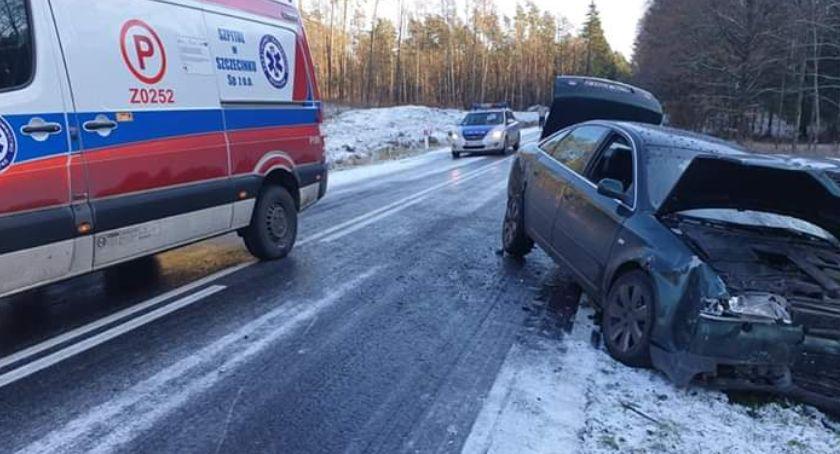 """Nadchodzi zima. """"Szklanka"""" na drogach pod Szczecinkiem"""