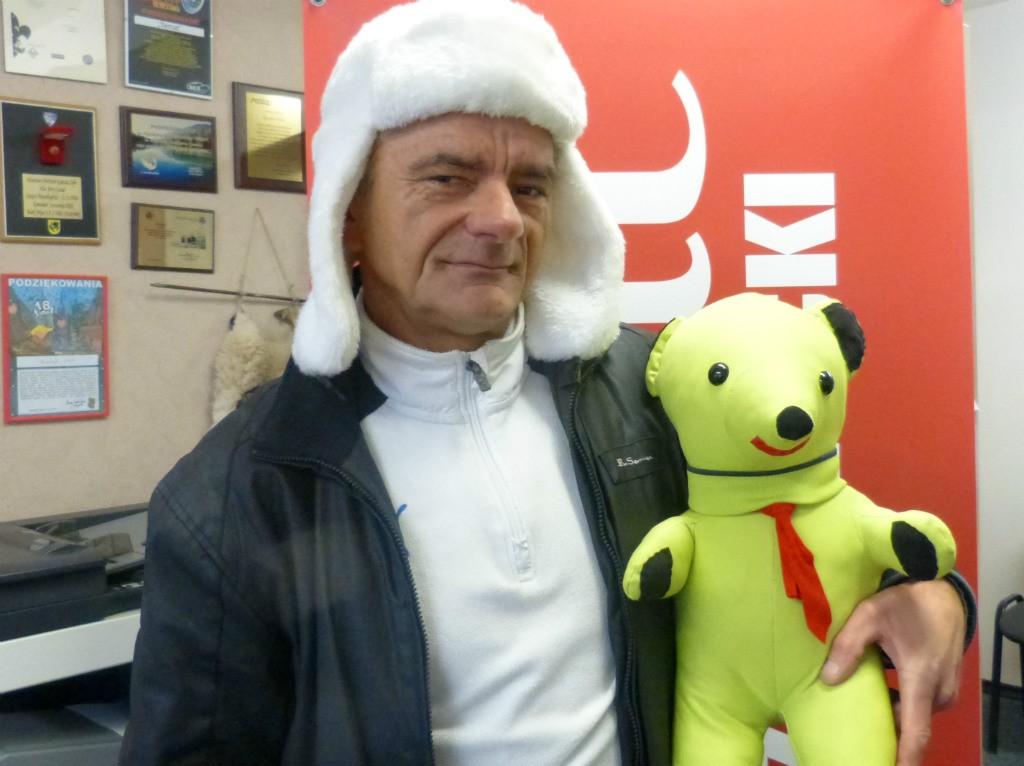 charytatywnie, Andrzej Kowal misiem Kowala zapraszają finał WOŚP - zdjęcie, fotografia