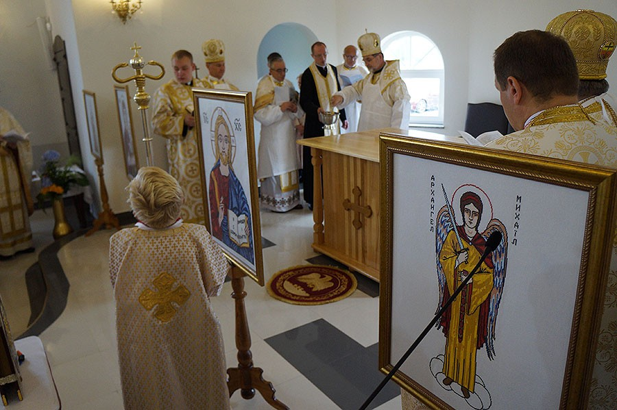 temat.net: archiwum, Konsekracja cerkwi Szczecinku - zdjęcie, fotografia