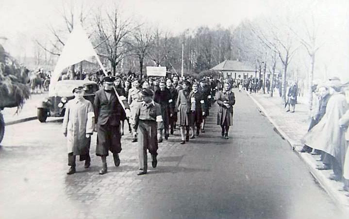 Historia, Pochód pierwszomajowy Bydgoskiej - zdjęcie, fotografia
