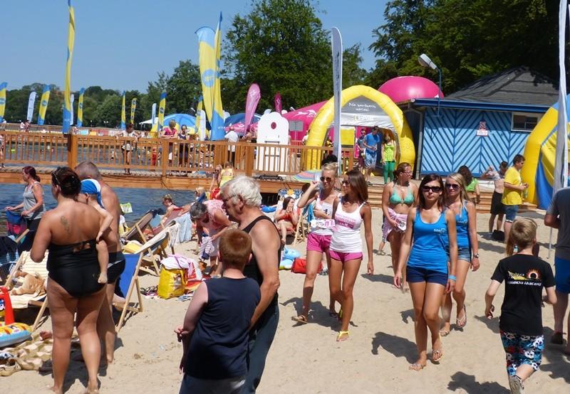 Rekreacja, plaże Trzesieckiem środy - zdjęcie, fotografia