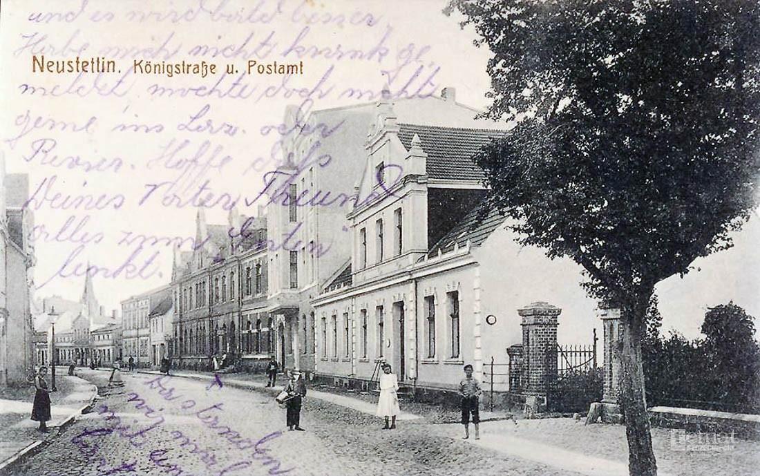 Historia, Stary Szczecinek Gmach sądu ulica - zdjęcie, fotografia