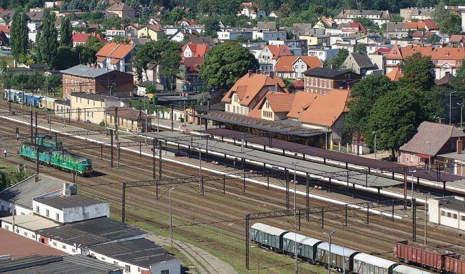 Kolej, Koleją Szczecinka szybciej Ustki minut - zdjęcie, fotografia