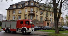 Alarm pożarowy w banku PKO SA
