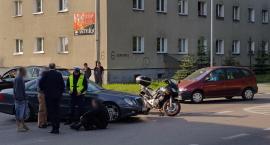 Potrącenie motocyklisty na Słowiańskiej