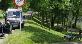 Zderzenie dwójki rowerzystów w rejonie Trzesieki. Dziewczynka nieprzytomna