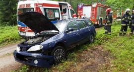 Tajemniczy wypadek samochodowy w lesie pod Nowym Chwalimem
