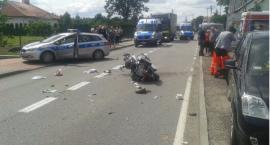 Wypadek motocyklisty w Gwdzie. Grozi mu amputacja