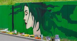 Mural przy wjeździe na Świątki w Szczecinku niedługo będzie gotowy