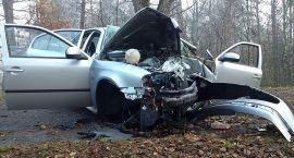 Wypadek na drodze za Bornem. Ofiara śmiertelna (aktualizacja)