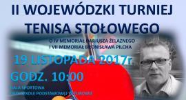 II Wojewódzki Turniej Tenisa Stołowego. Zaproszenie