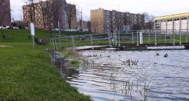 Uwaga na staw przy ul.Kopernika! Głęboka woda i niebezpieczny brzeg