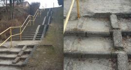 Niebezpieczne schody na Słonecznej czekają na remont [Wrzuć Temat]