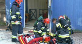 """""""Księżna Jadwiga"""" w ogniu, poparzony pracownik, strażacy w akcji"""