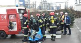 Pożar w Kronospanie w Szczecinku. Z ogniem walczyło osiem zastępów straży pożarnej