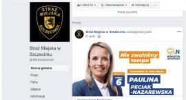 Straż Miejska w Szczecinku prowadzi agitację wyborczą na swoim Facebooku?