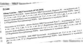 Kary dla MKP Szczecinek, trenera i prezesa od Wydziału Dyscypliny ZZPN