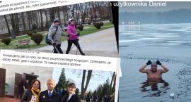Szczecineccy samorządowcy w social mediach. Fotki z choinką i kąpiel w przerębli