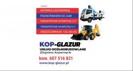 Usługi koparkowe i transportowe!