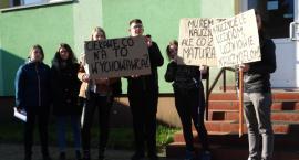 Protestowali maturzyści ze Szczecinka.